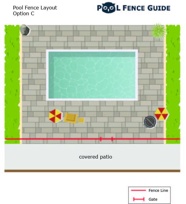 fence layout option C along patio
