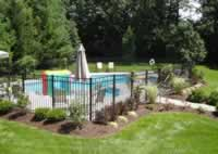 4ft tall black wrought iron pool fence