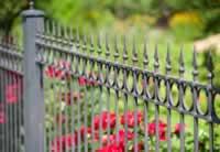 Iron pool fence decorative style