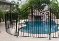 double arched pool fence gate