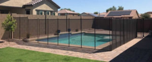 Tall Mesh Fence Black Color