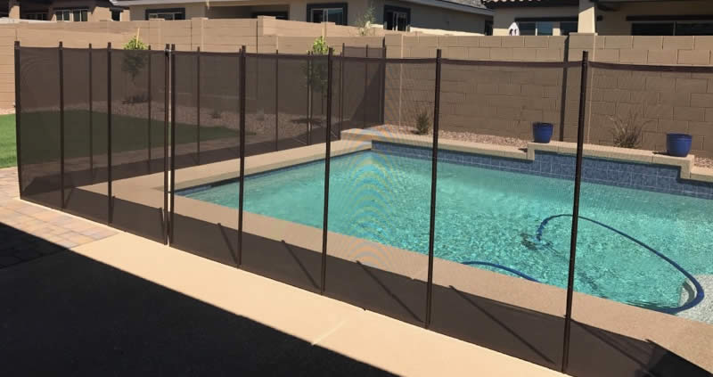 pool fence guide pros and cons of mesh fence - Pool Fence Installation