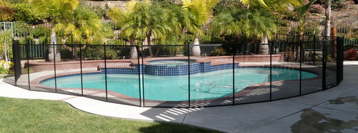 Components of Mesh Pool Fence