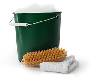 Bucket of soap and water
